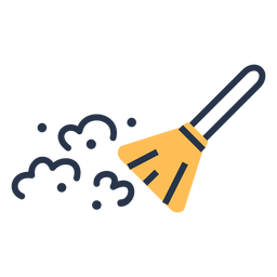 Dust cleaning brush icon