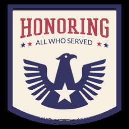 Dia dos veteranos de distintivo de águia