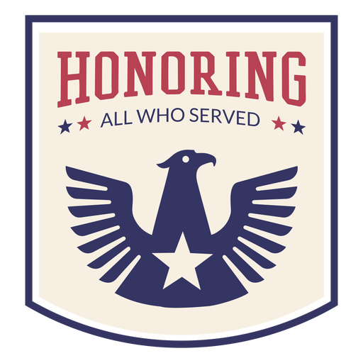 Eagle badge veterans day