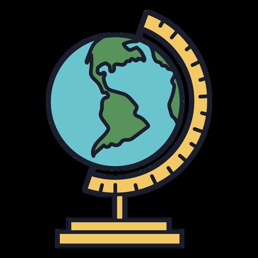 Earth globe colorful icon stroke