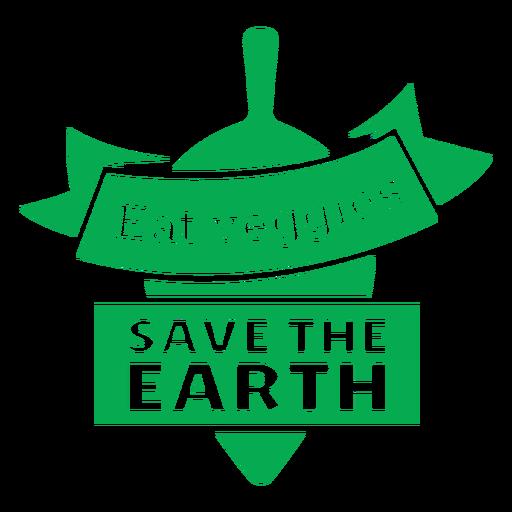 Comer verduras insignia verde