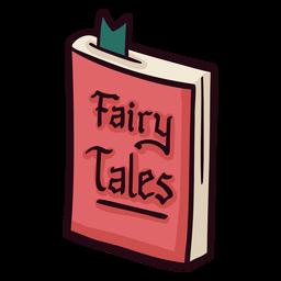 Libro de cuentos de hadas colorido icono trazo