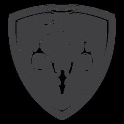 Insignia del club de caza padre e hijo