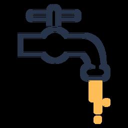Icono de grifo de agua del grifo