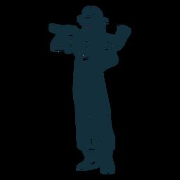 Ilustración de hacha bombero femenino