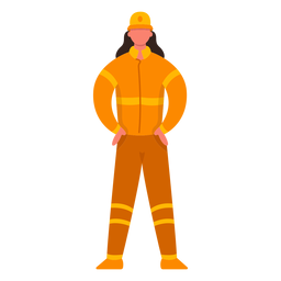 Mujer primera respuesta bombero plana