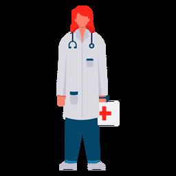 Médico de primera respuesta femenina plana