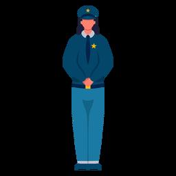 Piso de policía de primera respuesta femenina