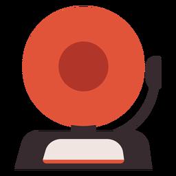 Icono colorido de alarma de incendio