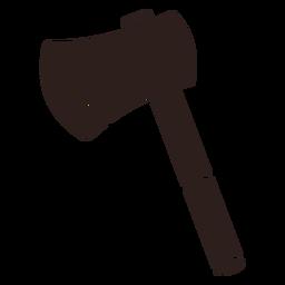 Fire axe flat silhouette