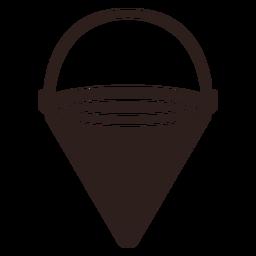 Fire bucket flat silhouette