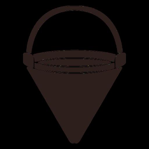 Fire bucket flat silhouette Transparent PNG