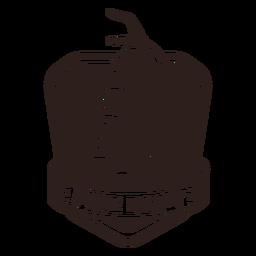 Divisa del extintor del departamento de fuego