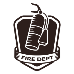 Fire dept extinguisher badge