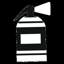 Fire extinguisher black flat