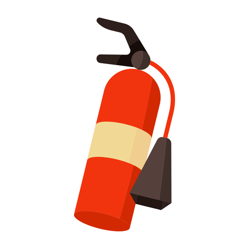 Fire extinguisher colorful flat Transparent PNG