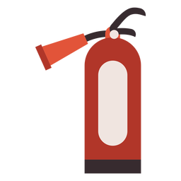 Fire extinguisher colorful icon