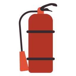 Fire extinguisher colorful icon extinguisher firefighting
