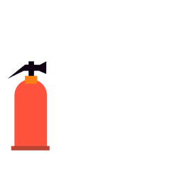 Fire extinguisher flat