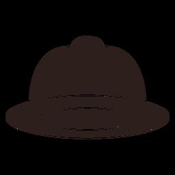 Fire helmet flat silhouette