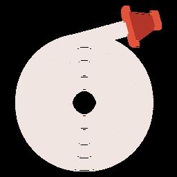 Fire hose colorful icon