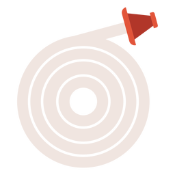 Icono colorido de manguera contra incendios