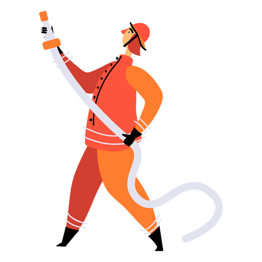 Fire hose firefighter flat Transparent PNG