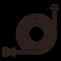 Fire hose flat silhouette