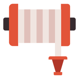 Fire hose reel colorful icon