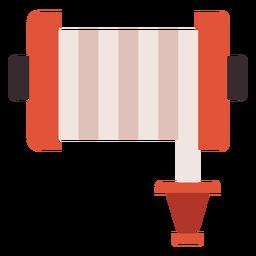 Icono colorido carrete manguera fuego