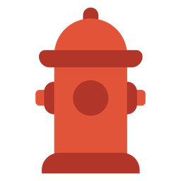 Fire hydrant colorful icon
