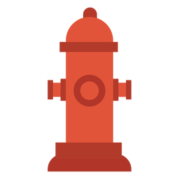 Fire hydrant icon colorful