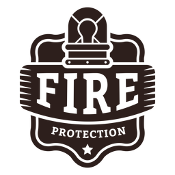Fire protection warning light badge