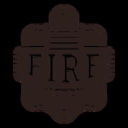 Insignia de luz de advertencia de protección contra incendios