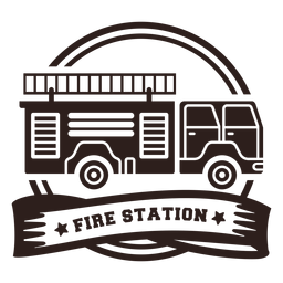 Fire station truck badge