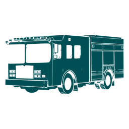 Ilustración de motor de camión de bomberos