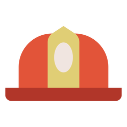Firefighter helmet colorful icon