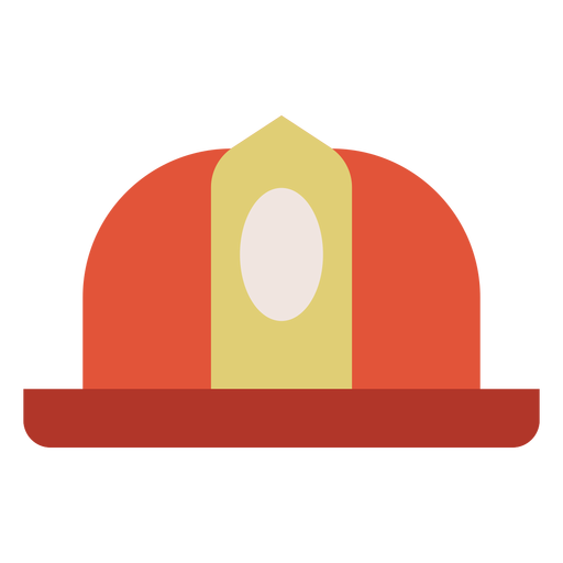 Firefighter helmet colorful icon Transparent PNG
