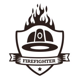 Insignia de llama de casco de bombero