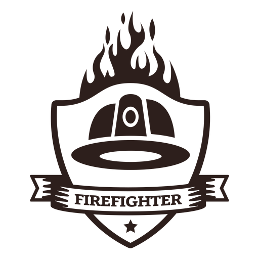 Firefighter helmet flame badge Transparent PNG