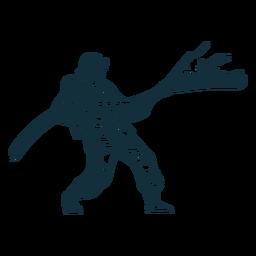 Bombero en la ilustración de acción