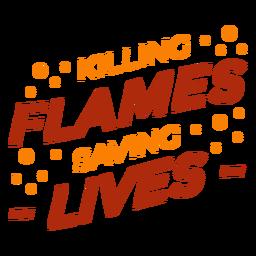 Cita de bomberos matando llamas