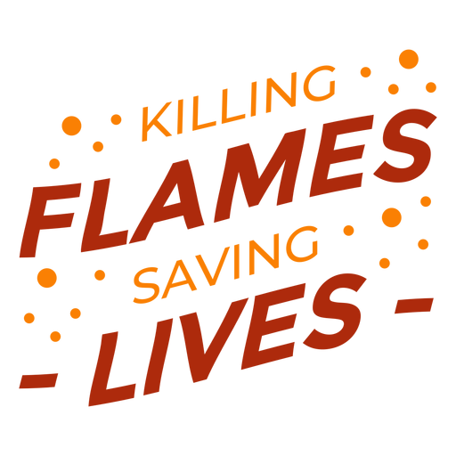 Cita de bomberos matando llamas Transparent PNG