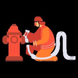 Hidrante de bombero plano