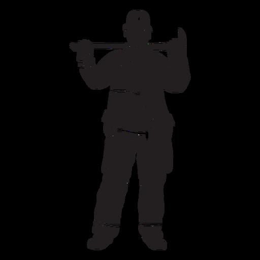 Fireman axe flat silhouette