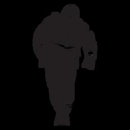 Fireman mask flat silhouette