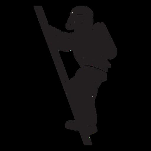 Fireman mask oxygen tank silhouette
