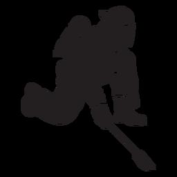Fireman two pronged tool flat silhouette