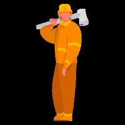 Primer respondedor bombero hacha plana