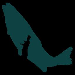 Ilustração de vara de pescador de peixe